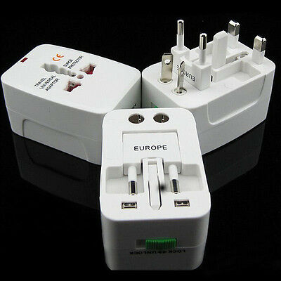 Universal Dual USB World Travel Adapter Plug Charger AC Power
