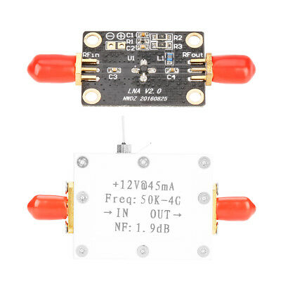 LNA Low Noise 50K-4G High Gain 25DB @ 0.8G High Gain Flatness RF Amplifier gbd