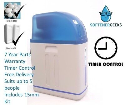 Softenergeeks Blue Line Timer Control Water Softener with 15mm Kit