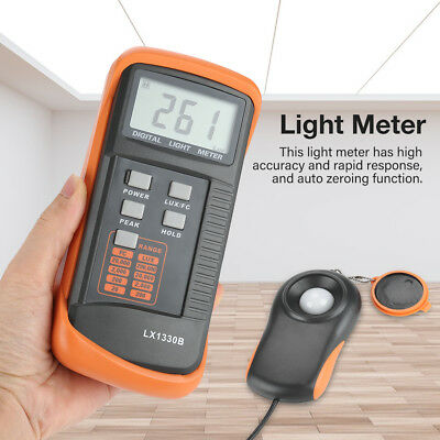 200,000 Lux Meter Digital Light Meter Luxmeter Tester LX1330B LCD Display gbd