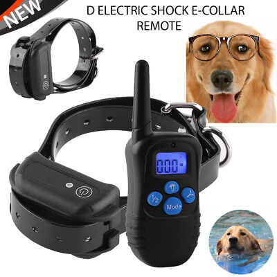 Training Rechargeable LCD Electric Shock E-Collar Remote Control Dog Anti-Bark A