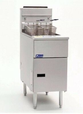 Pitco Single Tank Twin Basket Free Standing Propane Gas Fryer