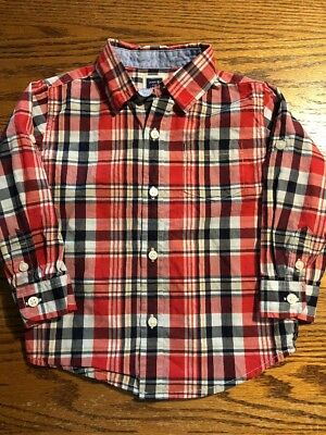 Janie And Jack Toddler Boys Size 18-24 Months Multi Long Slv Shirt
