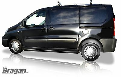 To Fit 2007 - 2016 Fiat Scudo SWB Van Black Steel Side Bars Steps Tubes