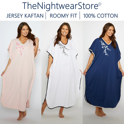 100% Cotton Nightdress Cotton Nightshirt 3/4 Sleeves (Size: 12-14 To 28-30!!)