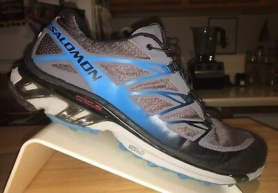 the latest 667cb 5191a Salomon XT Wings 3  139 Men s Trail Running Shoes Size 11 Gray   Blue