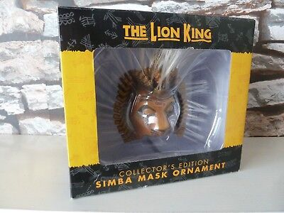 Disney The Lion King 'collector's Edition Simba Mask Ornament Fast/free Posting.