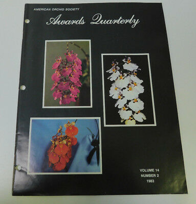 American Orchid Society Awards Quarterly Volume 14 Number 2 1983 Magazine