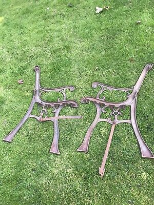 antique cast iron bench ends