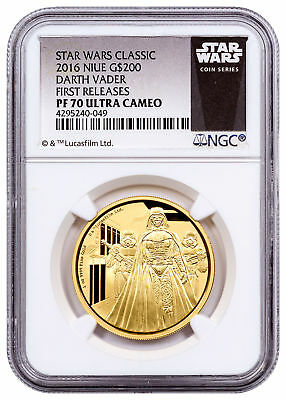 2016 Niue Star Wars Classic Darth Vader 1 oz Gold $200 NGC PF70 UC FR SKU53704
