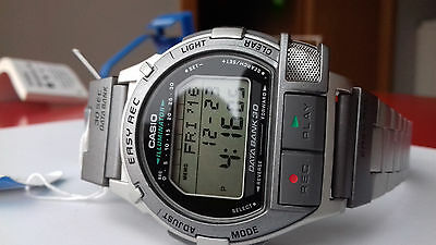 Nos Rare Casio Vintage Collection Db-V300-7 Voice Recorder Lcd Digitale Watch