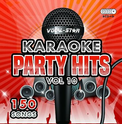 Vocal-Star Party Hits 10 Karaoke Cdg Cd+G Disc Set 150 Songs
