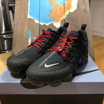 Men's Nike Air VaporMax Run Utility|AQ8810-001|Black|Anthracite|Habanero Red