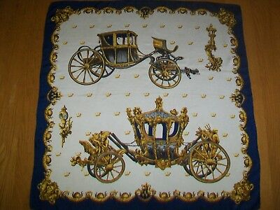 Beautiful Top Quality Carriages Design Vintage Silk Scarf