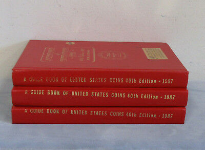 3-1987 Error Printed Covers Hardcover Red Books