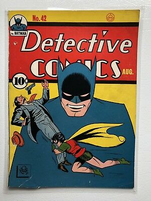 Detective Comics 42 Laminated Front Cover Only- Bob Kane Batman 1940