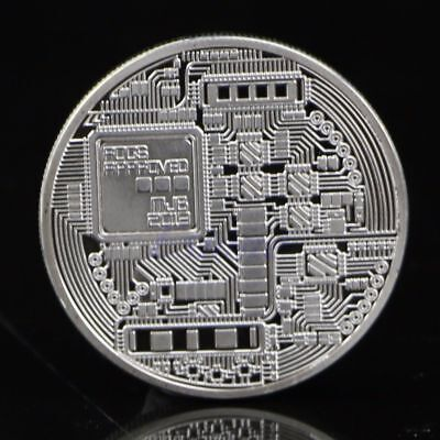 New Silver Plated Bitcoin Coin Collectible BTC Coin Collection  you like