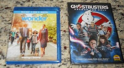Lot Ghostbusters Answer The Call & Wonder Blue Ray Dvd Movies Julia Roberts Gift