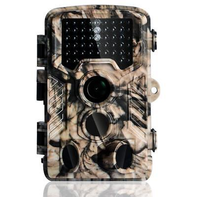 Trail Camera 1080P Full HD 16MP 120° Night Vision 65ft WaterProof Stealth Cam US