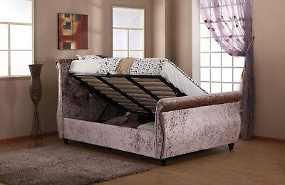 Harmony Rose Gold Mayfair Sidelift Ottoman Bedstead - 4FT6 Double, 5FT Kingsize