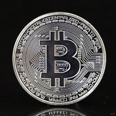 Silver BITCOIN!!  GOOD gift in protective acrylic case HOT SELLING!