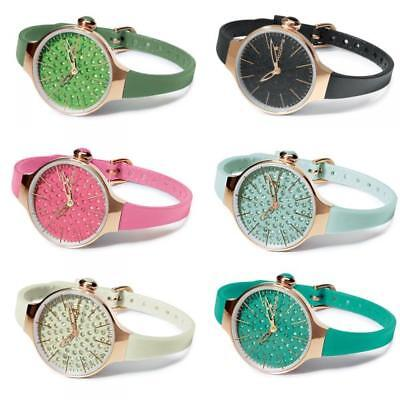 Orologio Donna HOOPS CHERIE DIAMOND Swarovski Rosè Silicone Colorato NEW