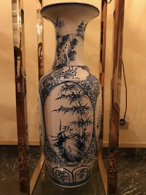 grand vase chinois porcelaine