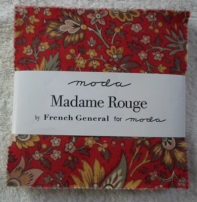 """Moda MADAME ROUGE Charm Pack - 42 x 5"""" squares"""