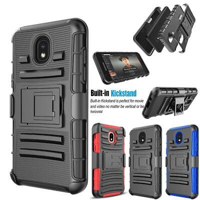 For Samsung Galaxy J7 Crown 2018 Shockproof Belt Clip Holster Stand Case Cover