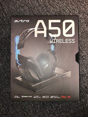 ASTRO Gaming A50 Wireless Dolby Gaming Headset PlayStation 4 + PC PS4 USED