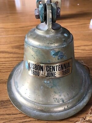 Vintage Brass or Bronze Bell , Large Wall Mount style