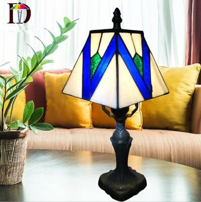 Tiffany Style Stained Glass Table Desk Bedside Home Decor Lamps Lamp Light