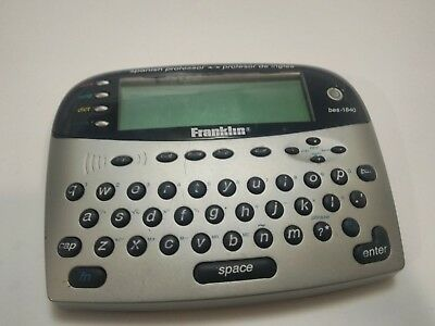 GUARANTEED Franklin BES-1840 Spanish Professor handheld device