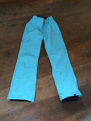 Roxy Girl's  Bright Blue Salopettes For Skiing/Snow Boarding Age 14