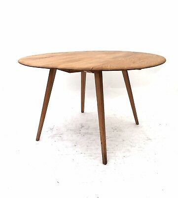Vintage Retro Mid Century 1960s ERCOL 384 Blonde Beech Blue Label Dining Table