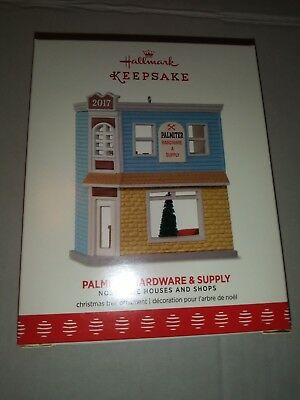 2017 HALLMARK Ornament PALMITER HARDWARE & SUPPLY Nostalgic Houses and Shops