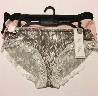 9322d0ceb0ae Marilyn Monroe Intimates 3-pack Hipster Panties Multicolor M or L $32  MS122617