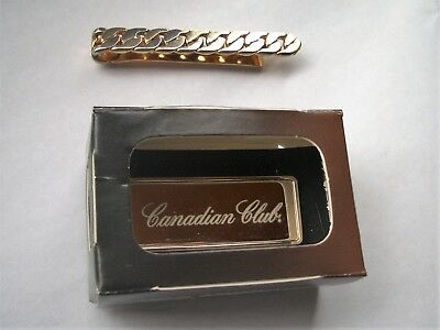 (2) MONEY CLIPS - Canadian Club Whiskey & Swank