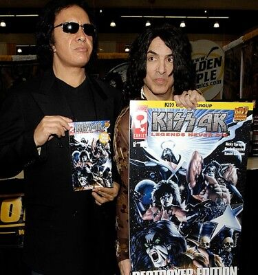 """KISS 4K Destroyer Edition """"Legends Never Die"""" No.1 Oversized 20 X 30 Comic Book."""