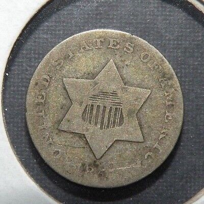 1851 US Silver Three Cent Coin Antique Lot Star Union Shield III 3 c Collectible