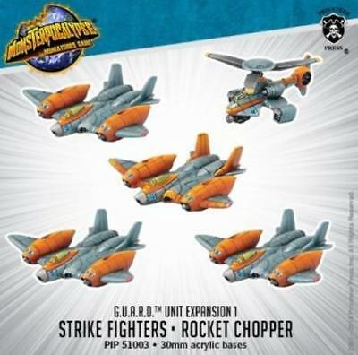 Privateer Monsterpocaly G.U.A.R.D. Strike Fighters & Rocket Chopper U Pack MINT
