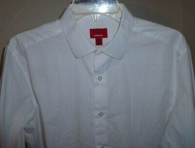 Alfani 15/2-3 Stretch, Slim Fit White dress shirt, New without tags