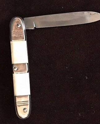 VINTAGE 40s50s MOTHER OF PEARL KNIFE FOLDING  GERMAN NEW NEW NEW