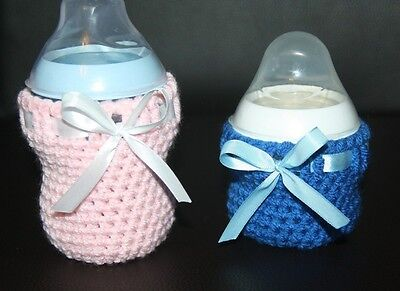 Handmade crochet baby bottle cover for Tommee Tippee bottle / PERSONALISED