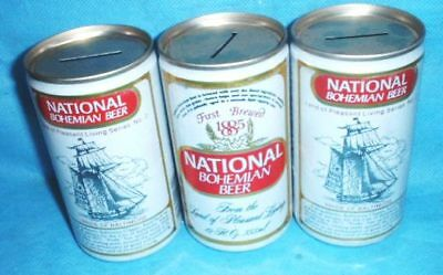 3 National Bohemian Bank Top Beer Cans Baltimore Md