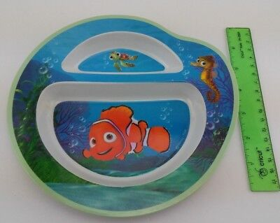 Disney Pixar Finding Nemo Divided Plastic Plate Learning Curve First Years 2005