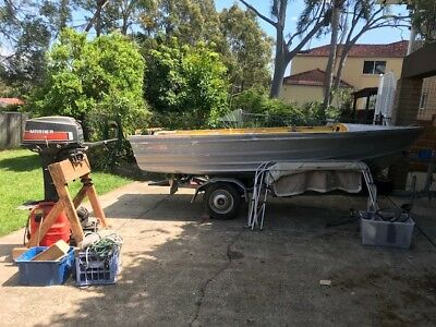 Aluminium Boat Quintrex Fishabout Mk2 - unfinished project