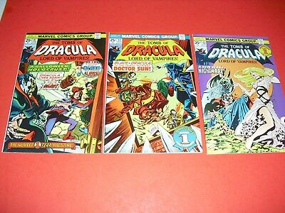 Tomb of Dracula Lot of 3 41 42 & 43 VF to NM COND! from 1976! Marvel Comics 128