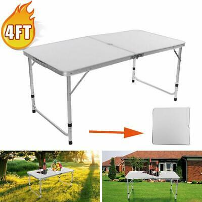 3/4/6 FT Aluminum Folding Table Camping Wedding Party Patio Portable Outdoor BBQ