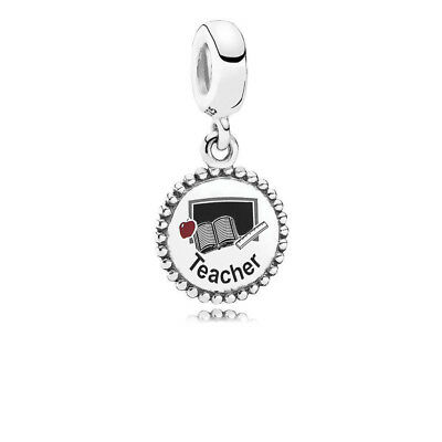New Authentic Pandora Charm Sterling Silver Teacher Dangle ENG791169_47